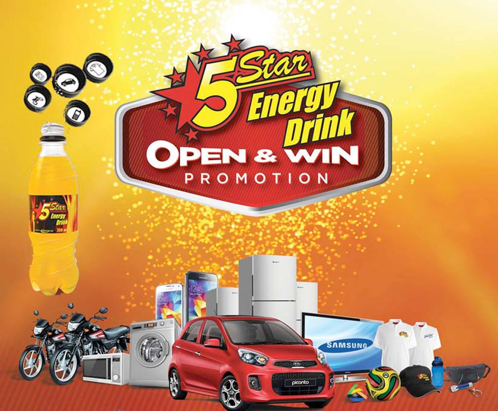 Win big in the 5 star energy drink promo multi pac ltd for 5 star energy